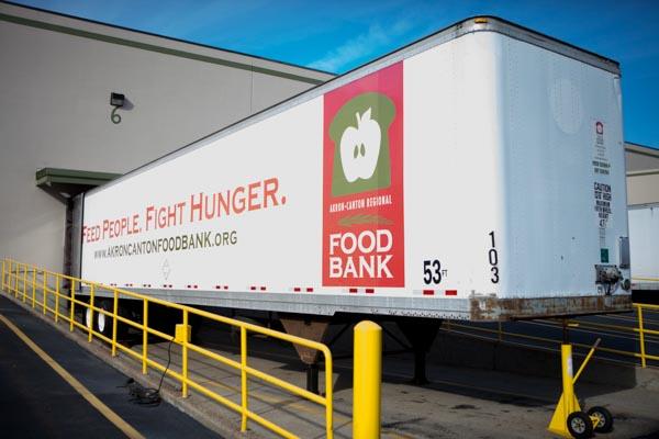 Food bank warehouse semi trailer